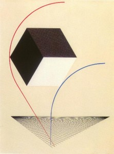 Painting: A Prounen by El Lissitzky