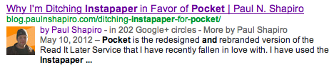 rel=author example for serp