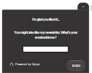 using a survey to get back not provided data and collect email addresses