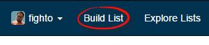 build twitter list navigation in elector